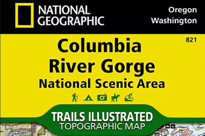 National Geographic Trails Map: Columbia Gorge
