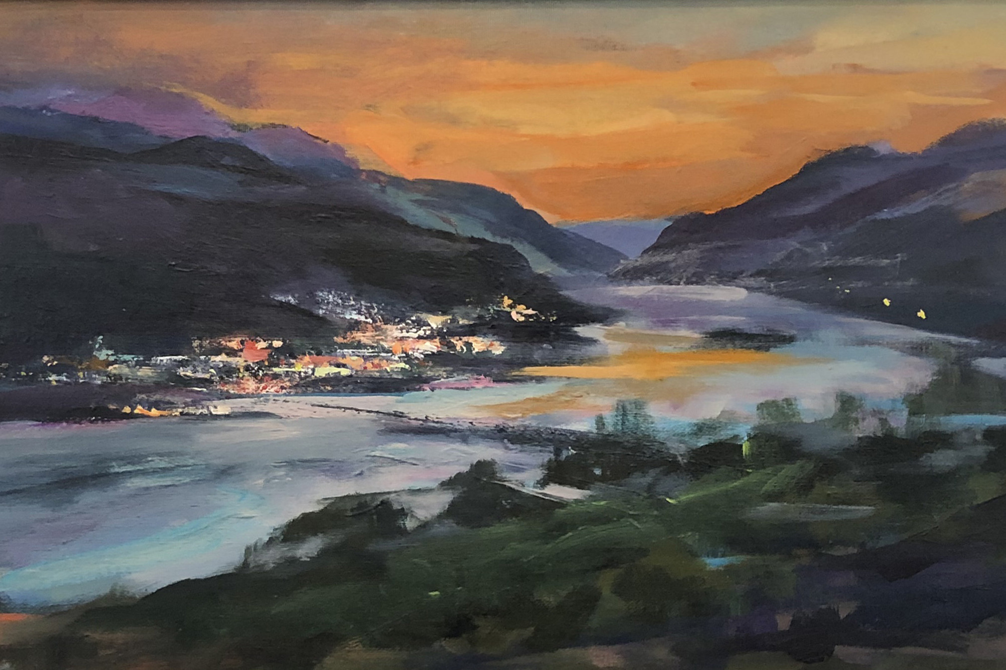 """Bingen Skyline"" Painting Wins Friends' Ribbon at Maryhill Exhibition"