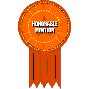 (Case of 6) Beistle Honorable Mention Award Ribbon   Honorable Mention Trophy