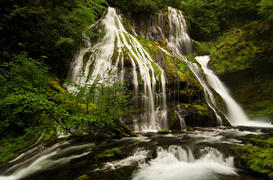Falls Creek and Panther Creek Falls, WA