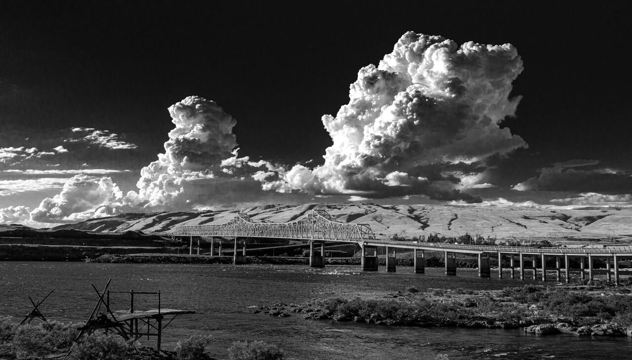 (Category Winner) Scenic Eastern Gorge- John Eric Lutz: Clouds over the Dalles Bridge